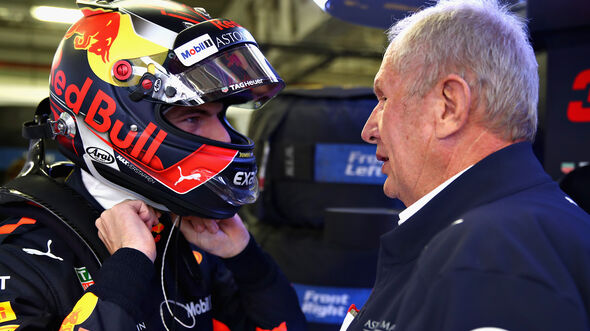 Max Verstappen & Helmut Marko - GP Mexiko 2018