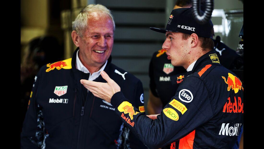 Max Verstappen - Helmut Marko - Red Bull - Formel 1 - GP Brasilien - 11. November 2017