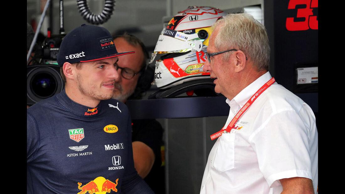 Max Verstappen - Helmut Marko - Red Bull - GP Deutschland 2019 - Hockenheim - Qualifying