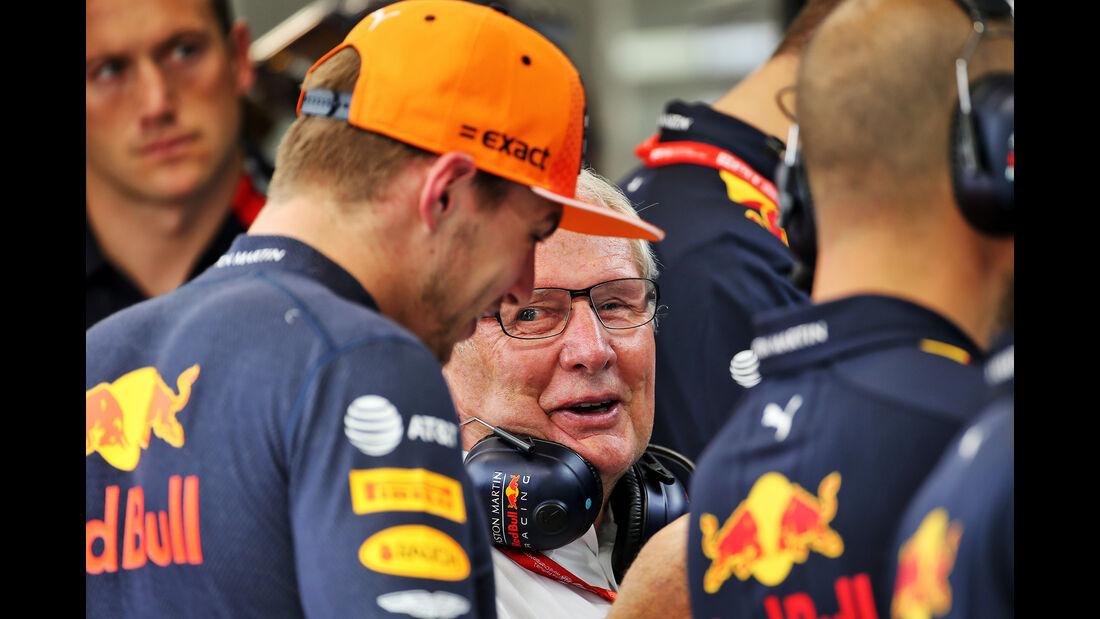 Max Verstappen - Helmut Marko - Red Bull - GP Singapur - Formel 1 - Freitag - 20.9.2019