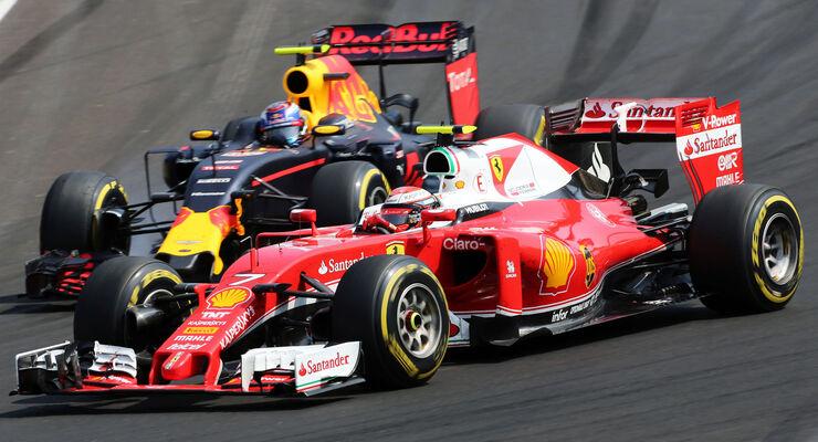 Max Verstappen - Kimi Räikkönen - GP Ungarn - Formel 1 - 24. Juli 2016