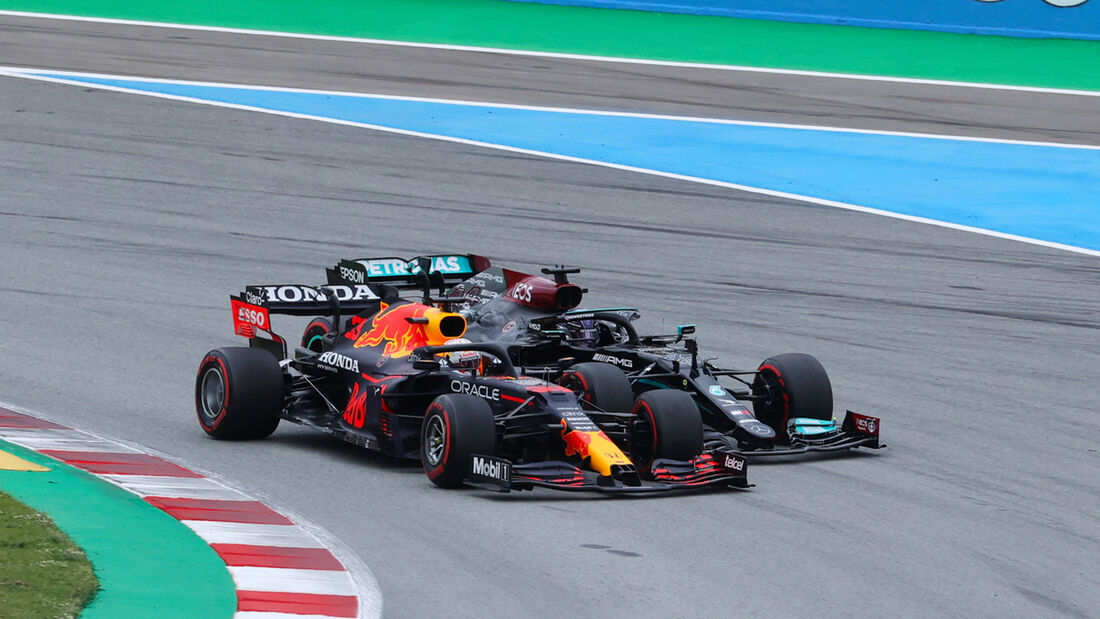 Max Verstappen - Lewis Hamilton - Formel 1 - GP Spanien 2021 - Barcelona - Rennen