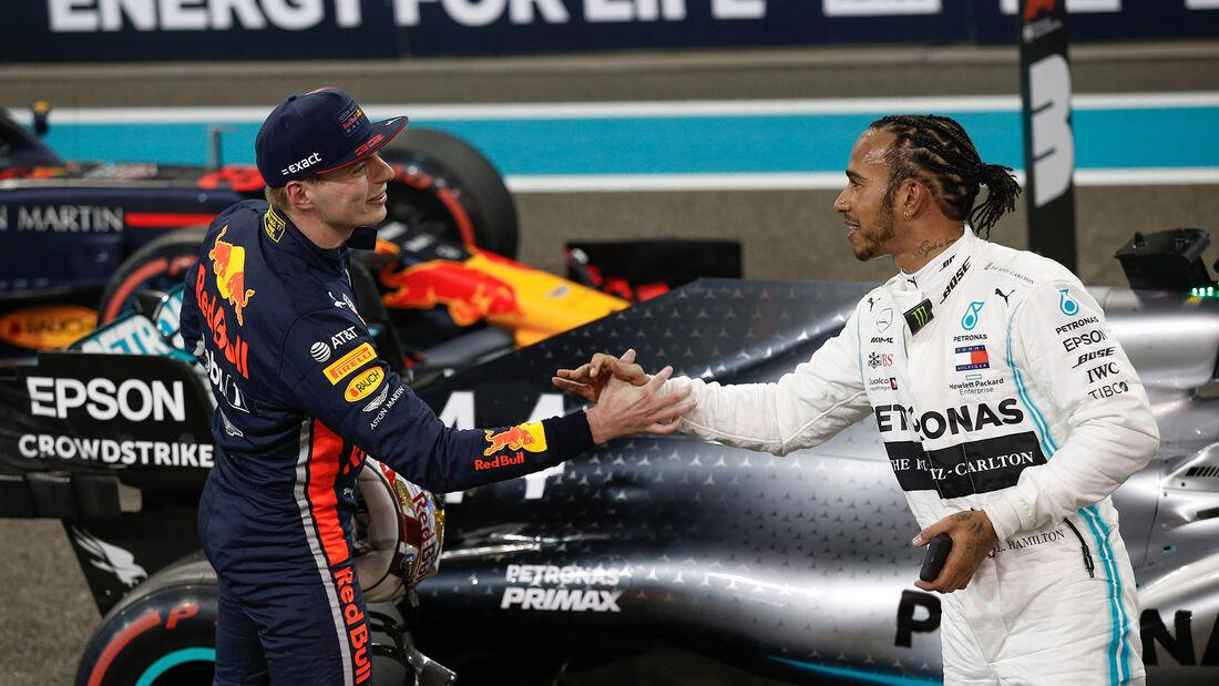 Max Verstappen - Lewis Hamilton - GP Abu Dhabi 2019