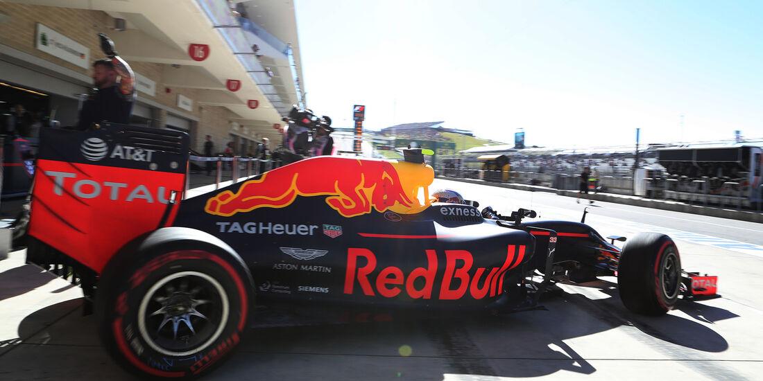 Max Verstappen - Red Bull - Formel 1 - Austin - GP USA - 22. Oktober 2016