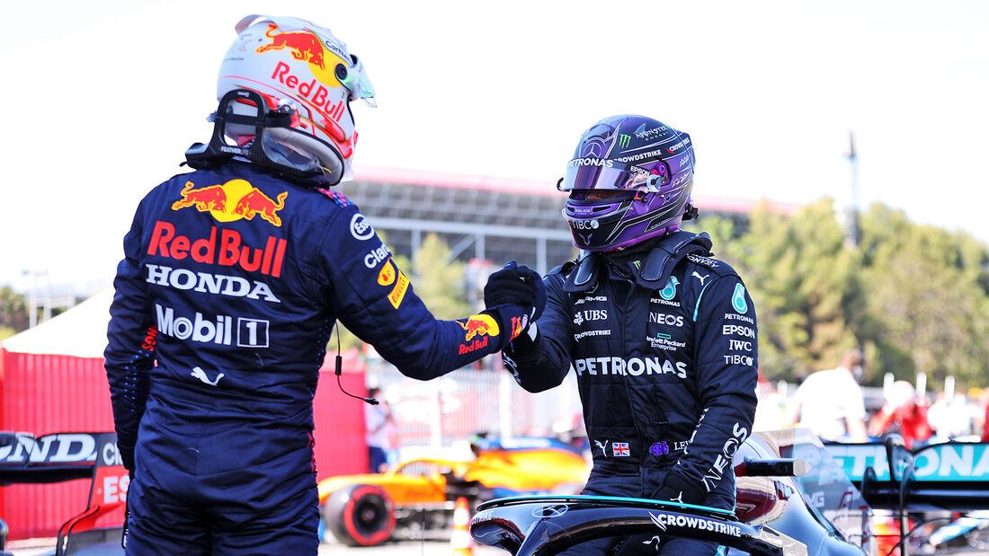 Max Verstappen - Red Bull - Lewis Hamilton - Mercedes - GP Spanien 2021
