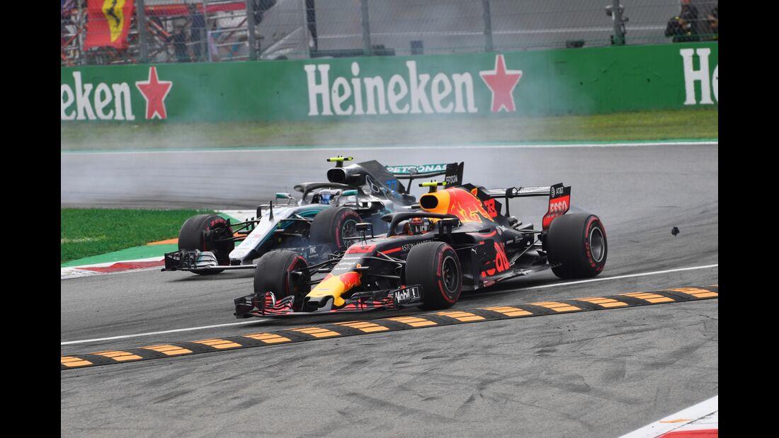 Max Verstappen - Red Bull - Valtteri Bottas - Mercedes - Formel 1 - GP Italien - 02. September 2018