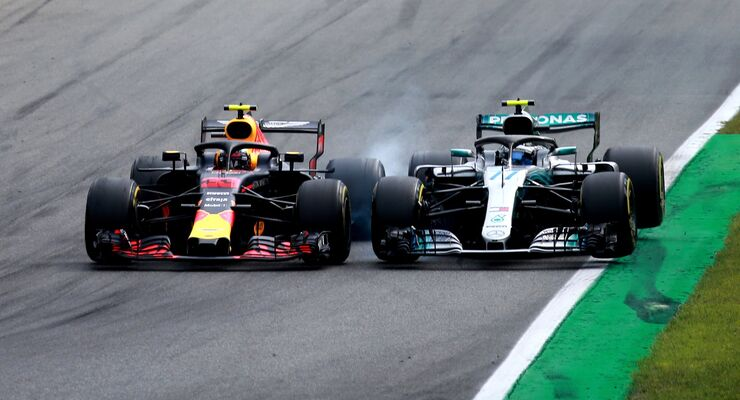 Max Verstappen - Red Bull - Valtteri Bottas - Mercedes - Formel 1 - GP Italien - 02. September 2018