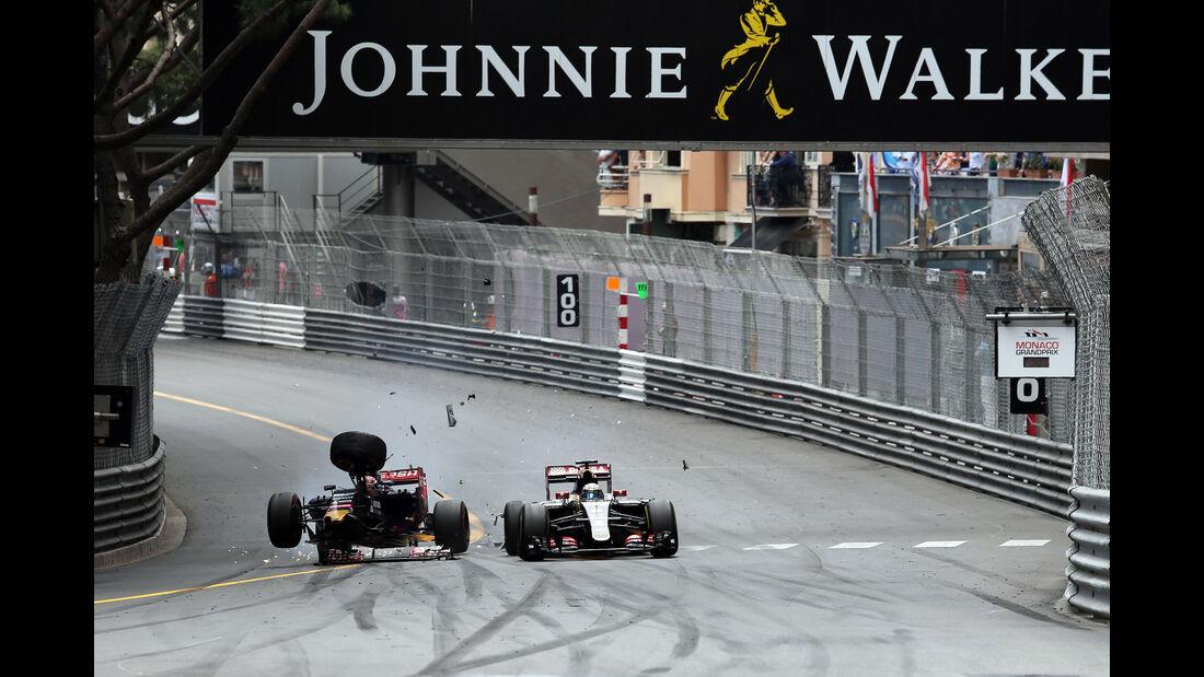 Max Verstappen - Romain Grosjean  - Formel 1 - GP Monaco - Sonntag - 24. Mai 2015