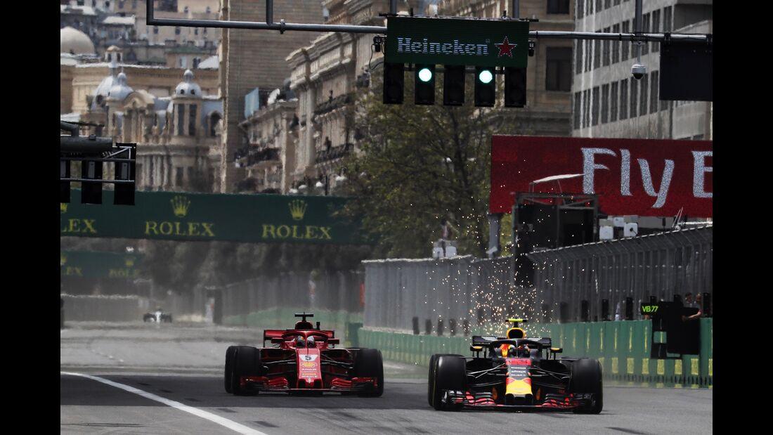 Max Verstappen - Sebastian Vettel - Formel 1 - GP Aserbaidschan - 27. April 2018