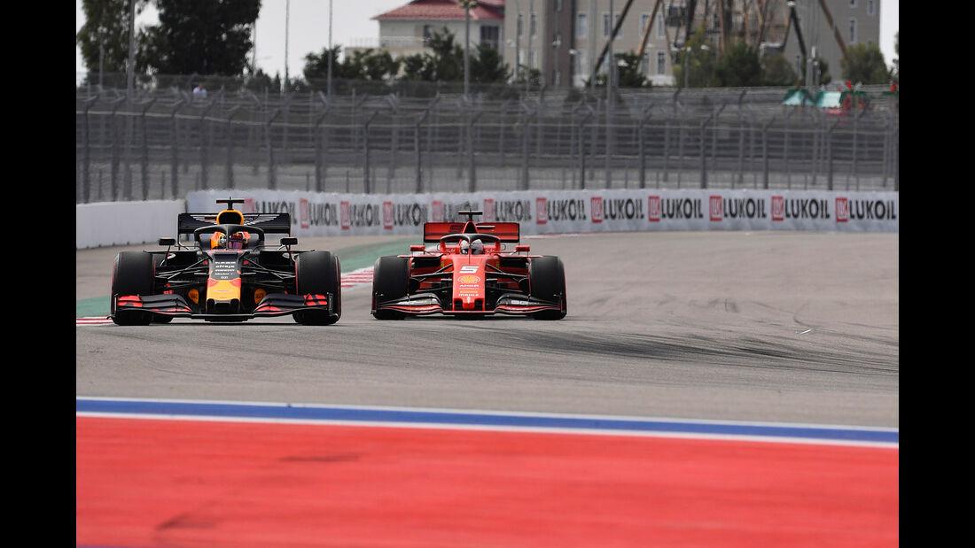 Max Verstappen - Sebastian Vettel - GP Russland - Sotschi - Formel 1 - Freitag - 27.9.2019