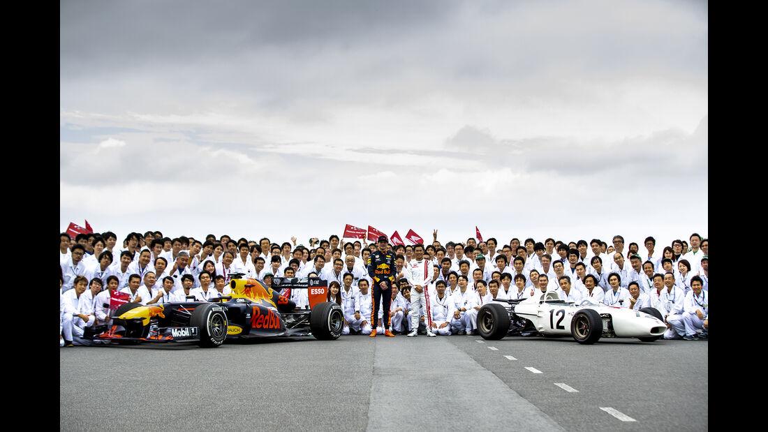 Max Verstappen & Takuma Sato - Honda RA272 - Motegi - 2019