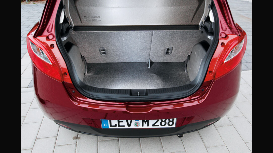 Mazda 2 1.3, Kofferraum