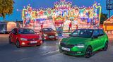 Mazda 2 G 115, Skoda Fabia 1.0 TSI, VW Polo 1.0 TSI, Exterieur