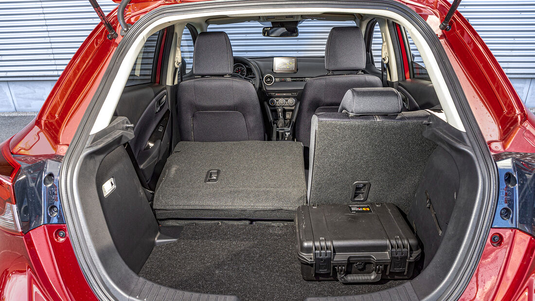 Mazda 2 G 90 M Hybrid, Kofferraum