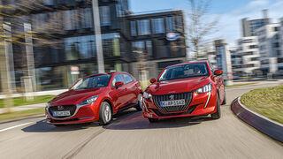 Mazda 2 G 90 M Hybrid, Peugeot 208 Puretech 100, Exterieur