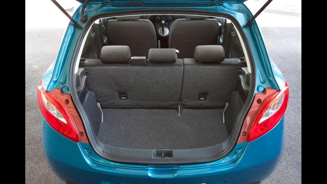 Mazda 2, Kofferraum