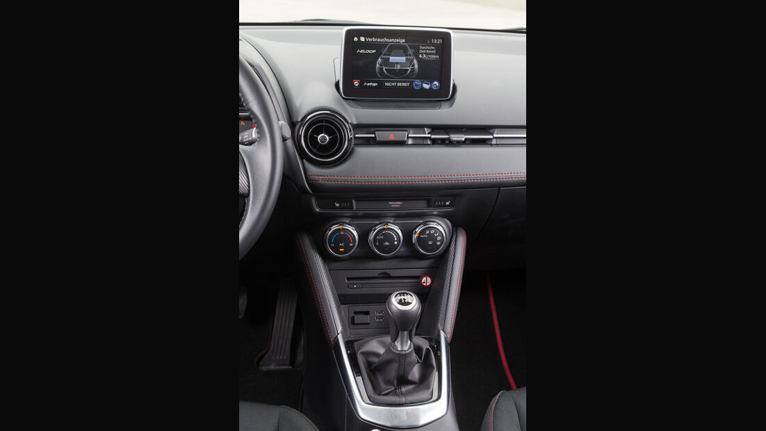 Mazda 2 Skyactiv-G 115 i-Eloop, Mittelkonsole