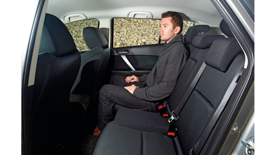 Mazda 3 2.0 MZR i-STOP, Rückbank, Rücksitze
