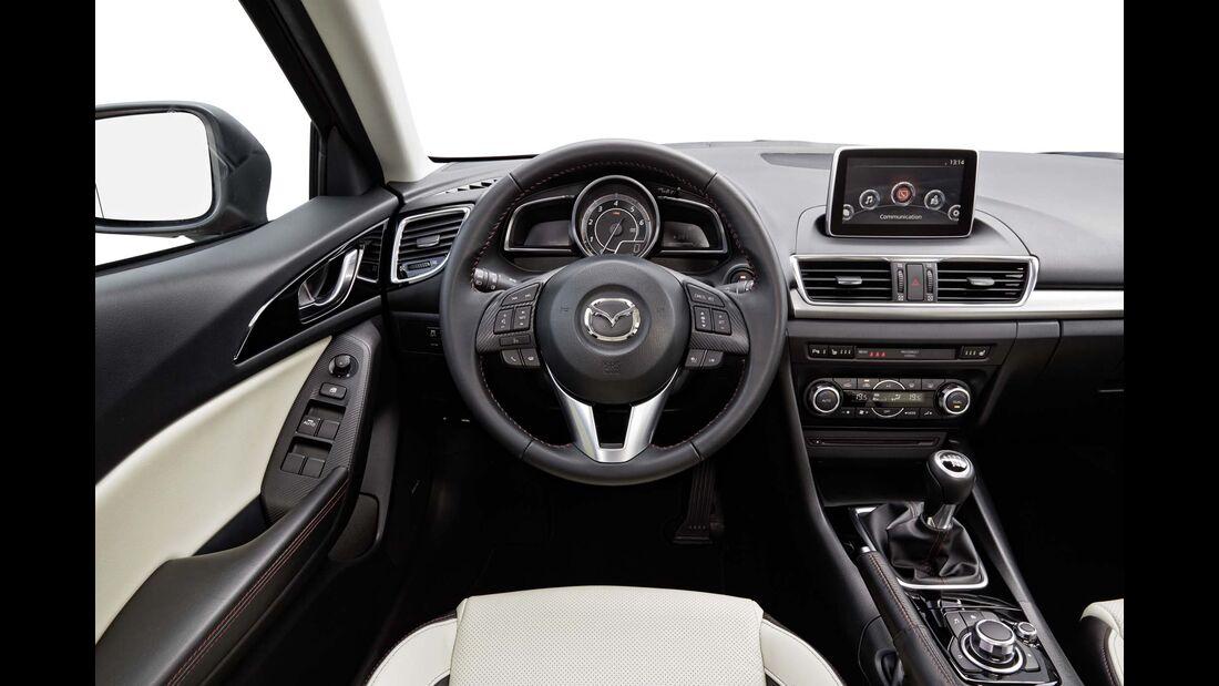 Mazda 3 Diesel Innenraum vorne ohne Fahrer