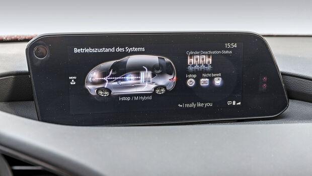 Mazda 3, Fahrbericht, Screen