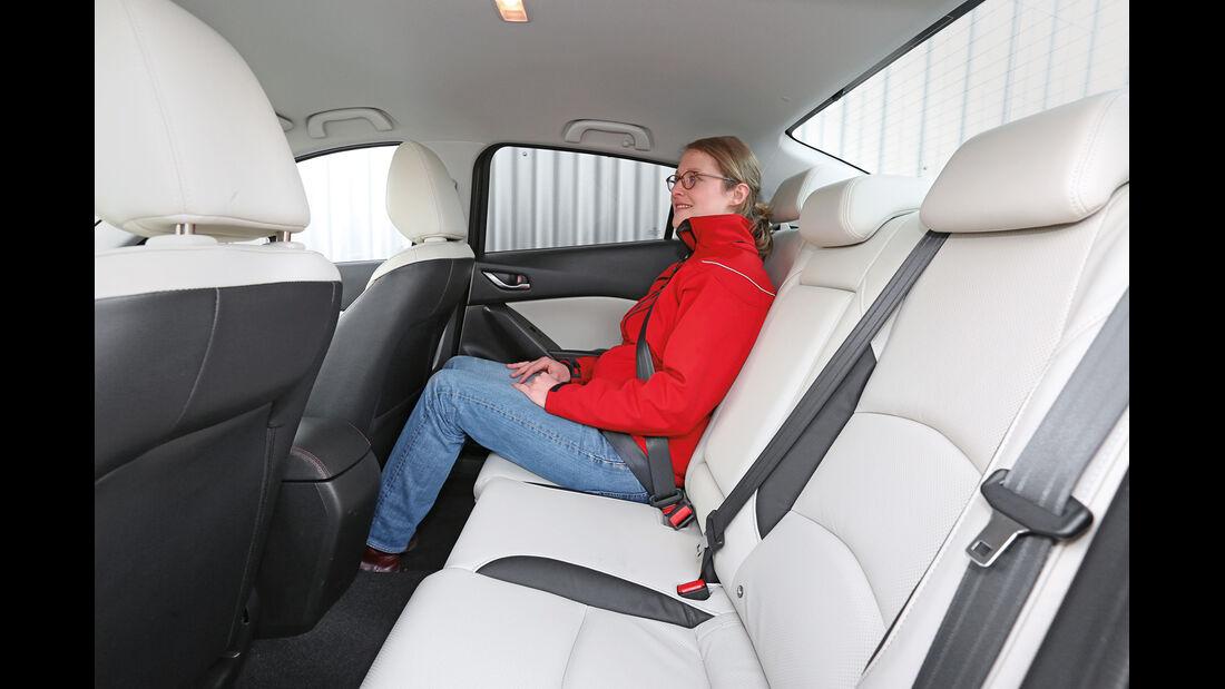 Mazda 3, Fondsitz, Beinfreiheit
