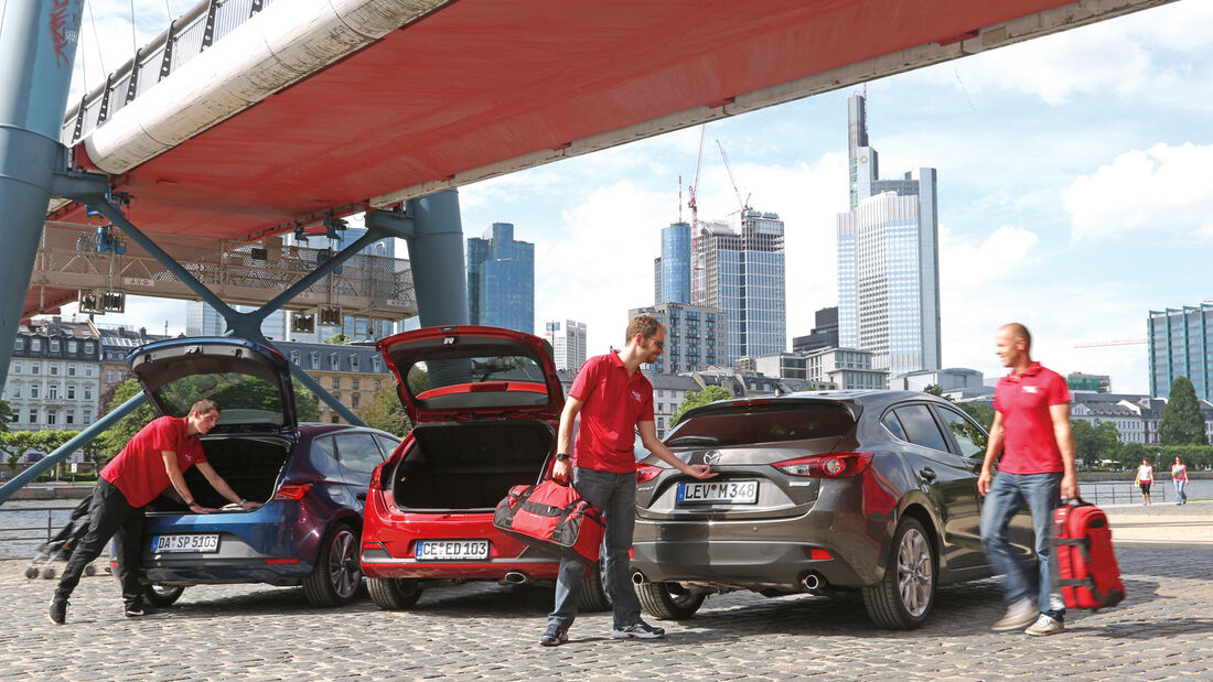Mazda 3, Kia Cee'd, Seat León, Heckklappe