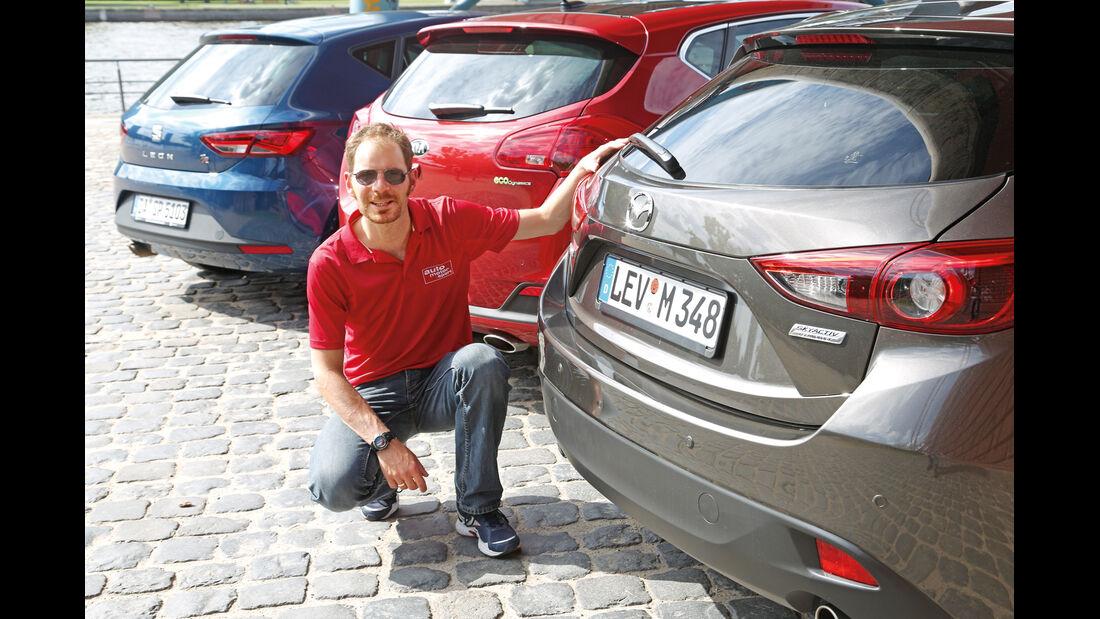 Mazda 3, Kia Cee'd, Seat León, Sebastian Renz