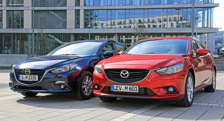 Mazda 3, Mazda 6, Frontansicht