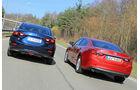 Mazda 3, Mazda 6, Heckansicht