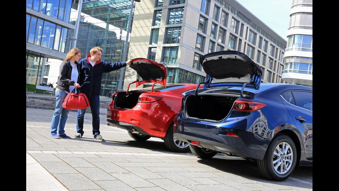 Mazda 3, Mazda 6, Kofferraum, Heckklappe