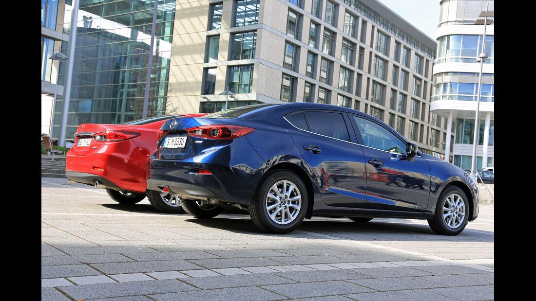 Mazda 3, Mazda 6, Seitenansicht