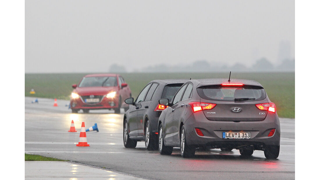 Mazda 3, Parcours, Teststrecke
