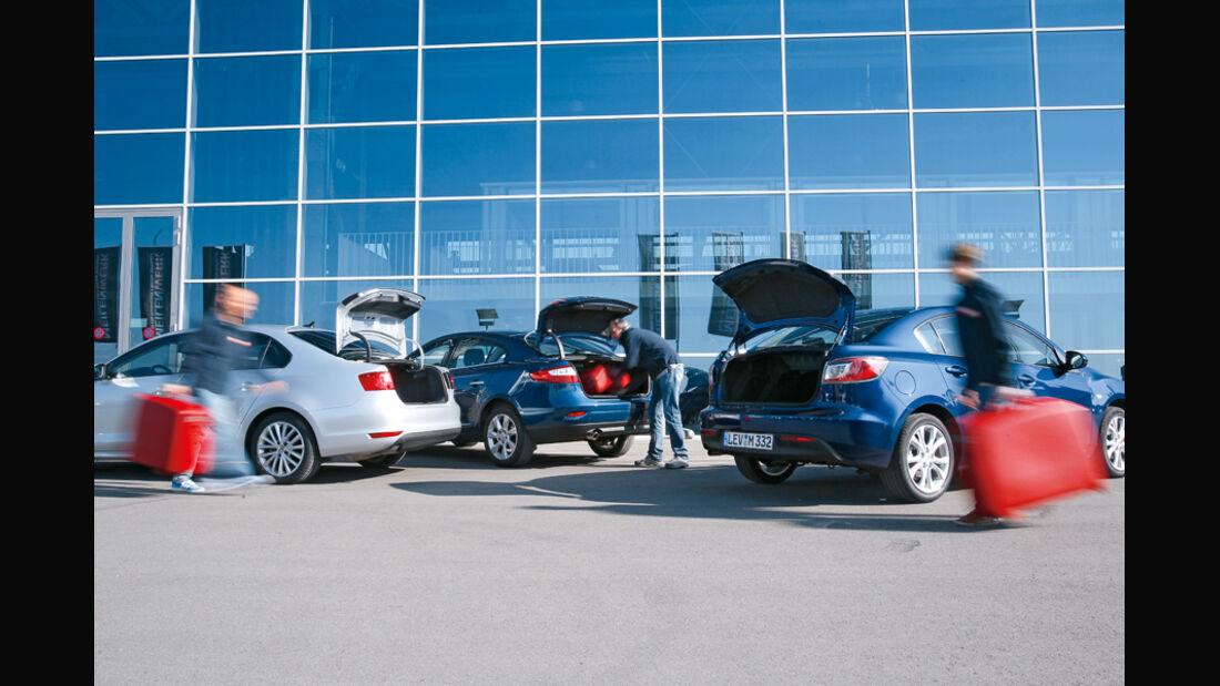 Mazda 3, Renault Fluence, VW Jetta
