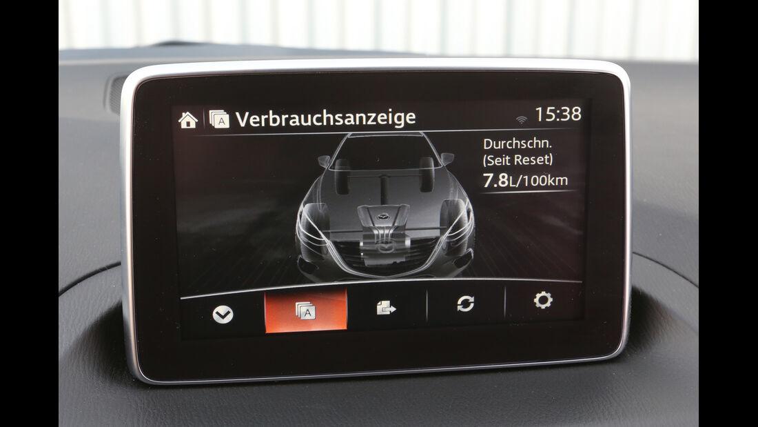 Mazda 3 SKYACTIV-G120, Bildschirm, Infotainment