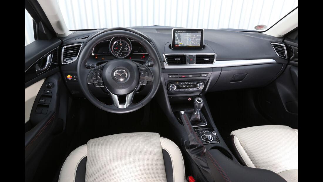 Mazda 3 SKYACTIV-G120, Cockpit, Lenkrad