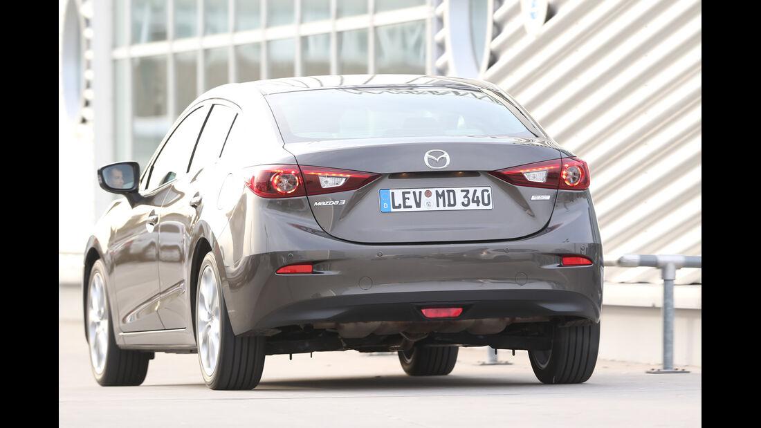 Mazda 3 SKYACTIV-G120, Heckansicht