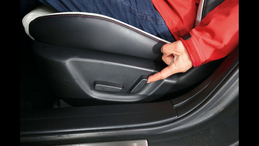 Mazda 3, Sitzverstellung