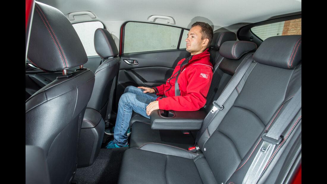 Mazda 3 Skyactiv-D 150, Fondsitz, Beinfreiheit