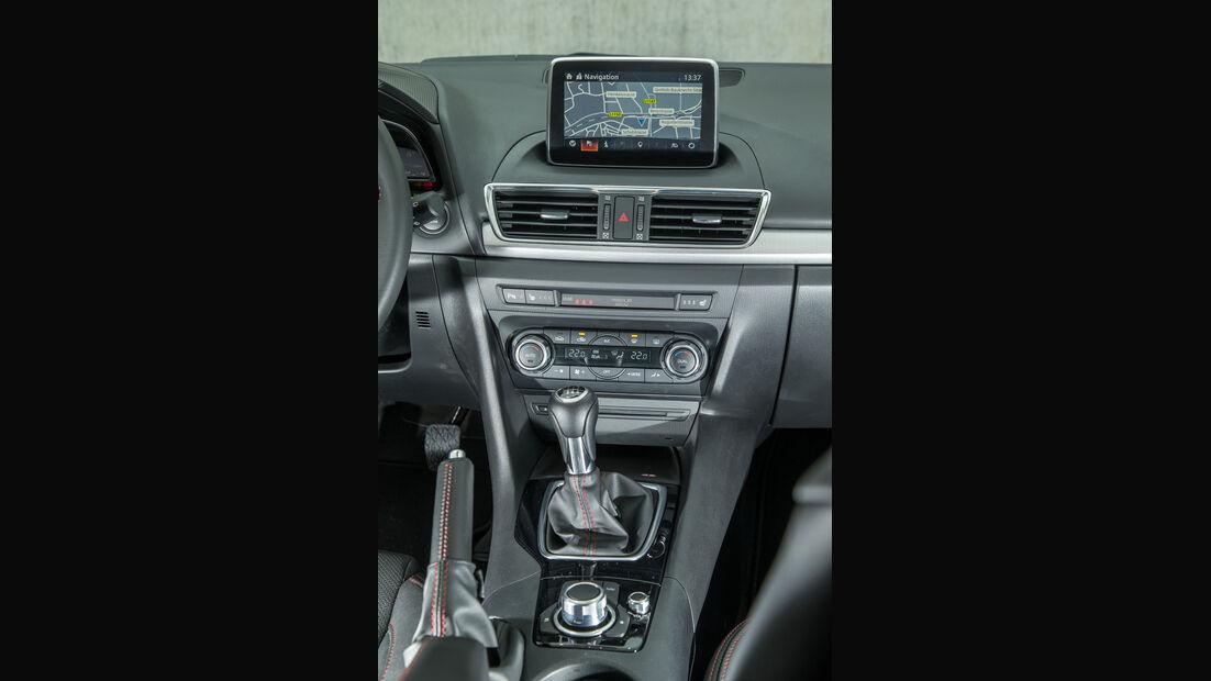 Mazda 3 Skyactiv-D 150, Mittelkonsole
