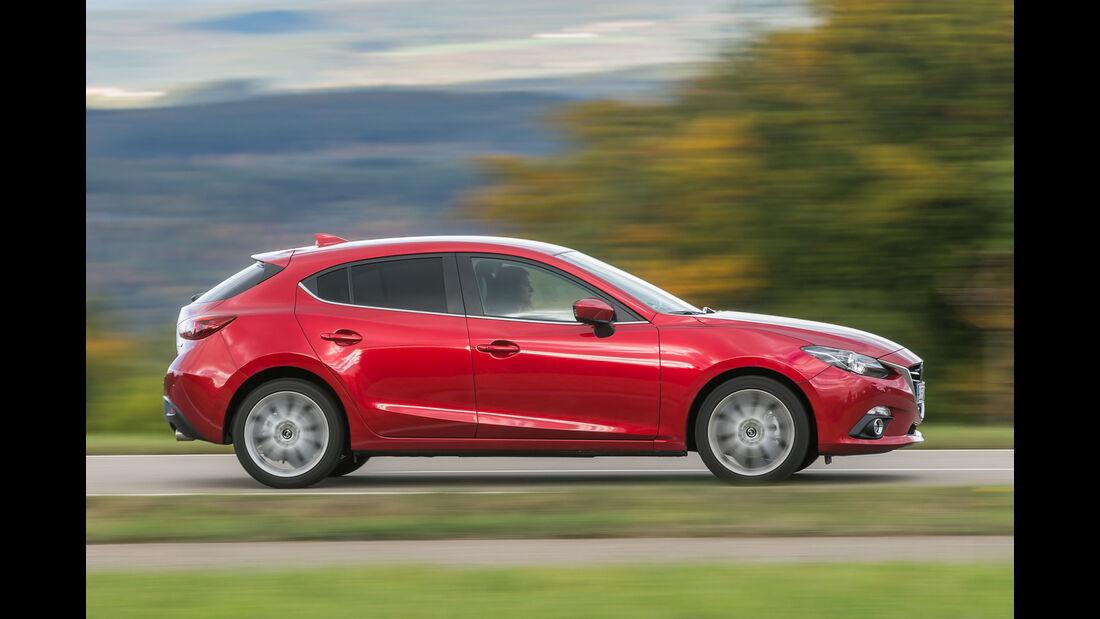 Mazda 3 Skyactiv-D 150, Seitenansicht