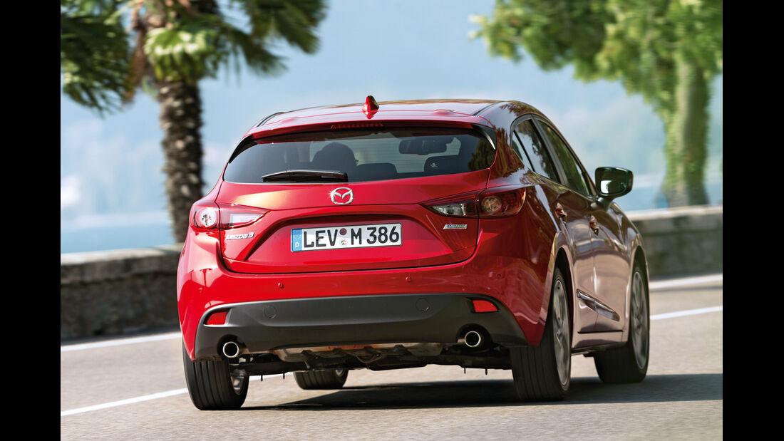 Mazda 3 Skyactiv G 120, Heckansicht