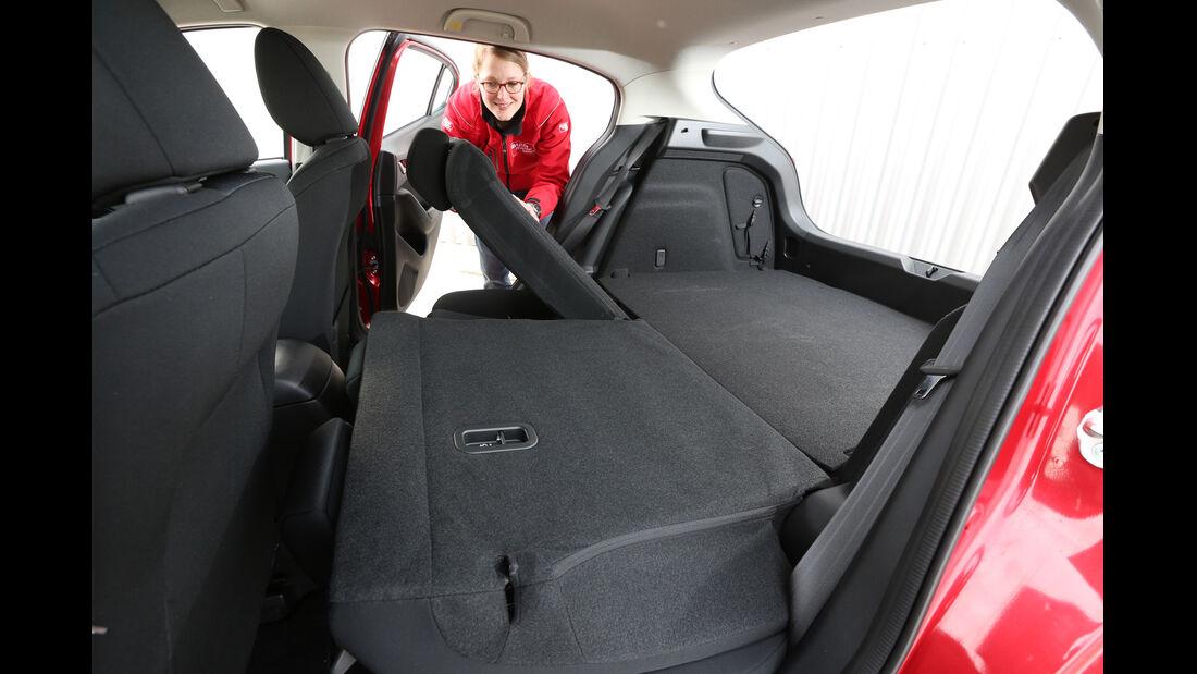 Mazda 3 Skyaktiv-G 100, Fondsitz, Umklappen