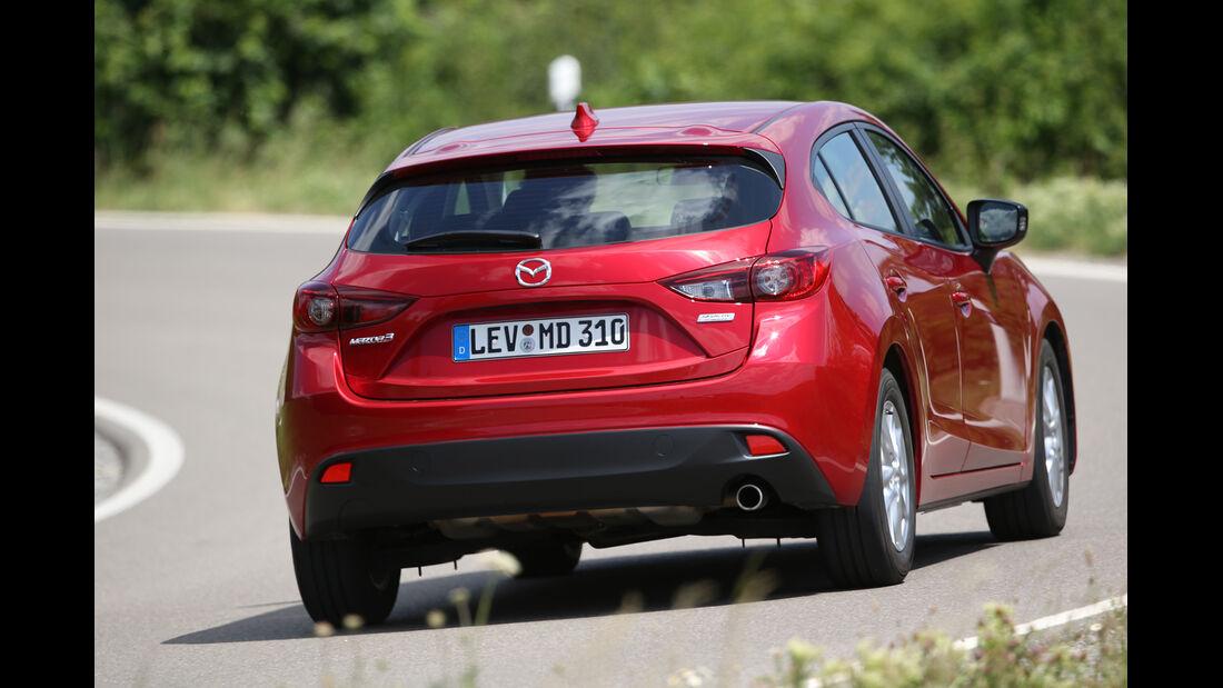 Mazda 3 Skyaktiv-G 100, Heckansicht