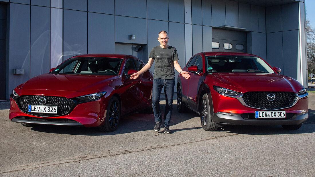 Mazda 3 und CX-30 e-Skyactiv X