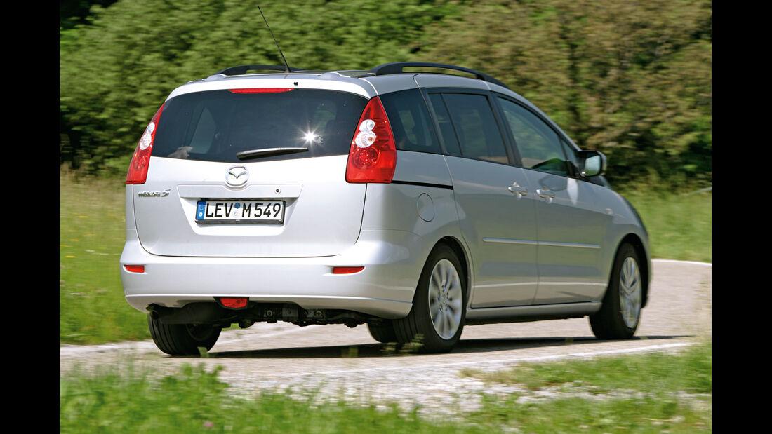 Mazda 5 1.8, Heckansicht
