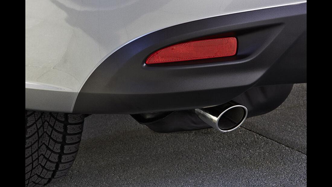 Mazda 5 Modellpflege 2013, Auspuff