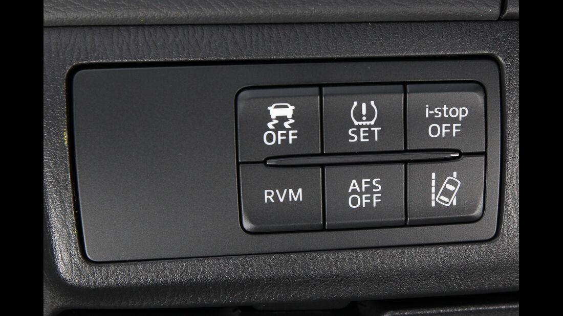 Mazda 6 2.2 D, Bedienelemente
