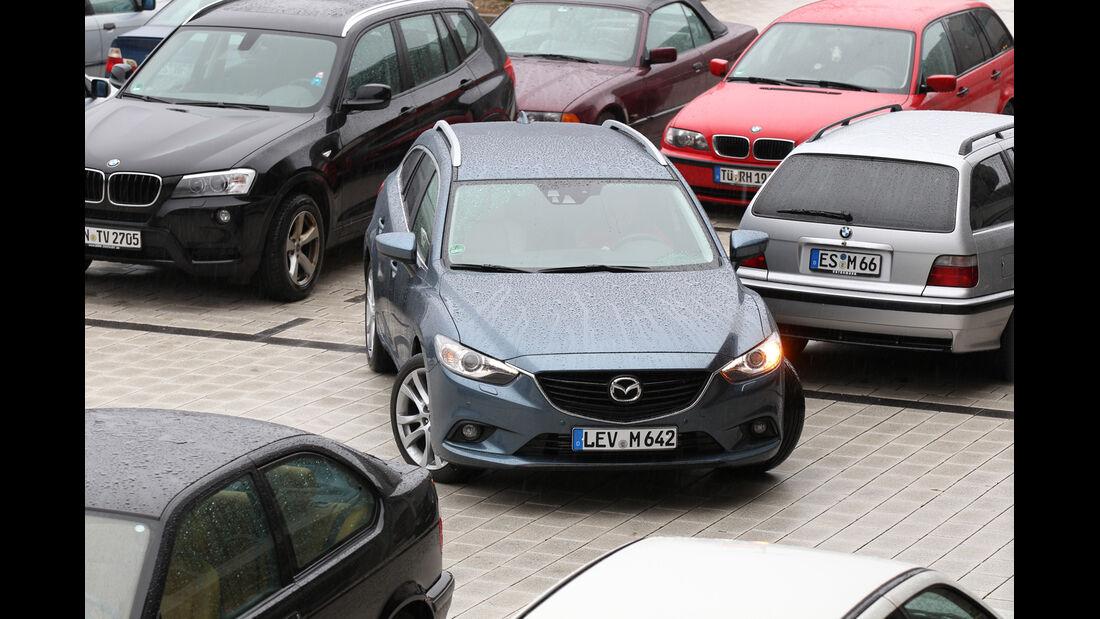 Mazda 6 2.2 D, Frontansicht, Einparken