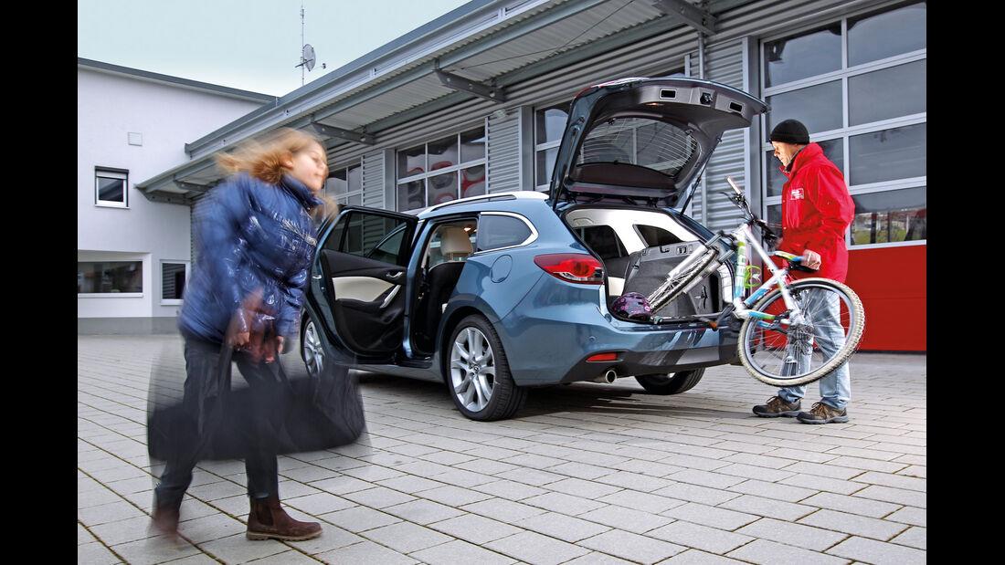 Mazda 6 2.2 D, Kofferraum, Einpacken
