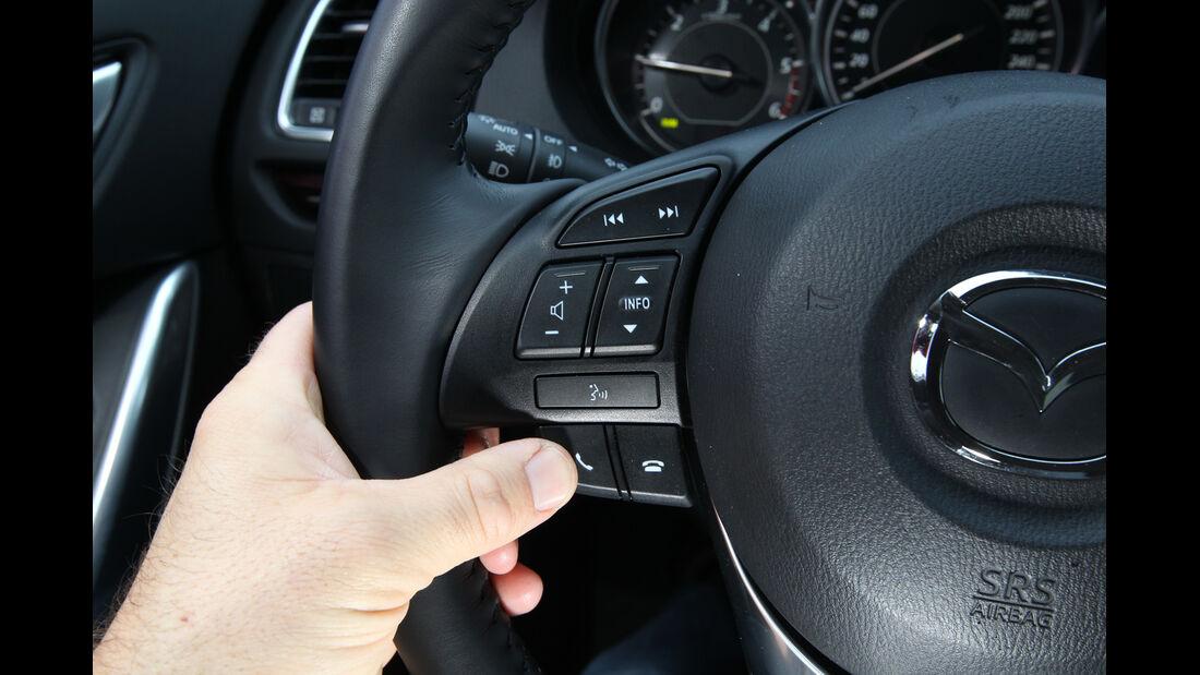 Mazda 6 2.2 D, Lenkrad, Lenkradschalter